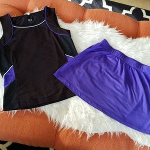 💜Tail activewear - 2 piece - skirt/top
